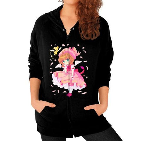 Wonderful Sakura Zip Hoodie (on woman) - SpreePicky  - 3