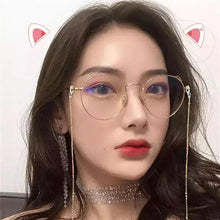 Load image into Gallery viewer, Cat Ear Eye Frame Retro Art Glasses SP15049