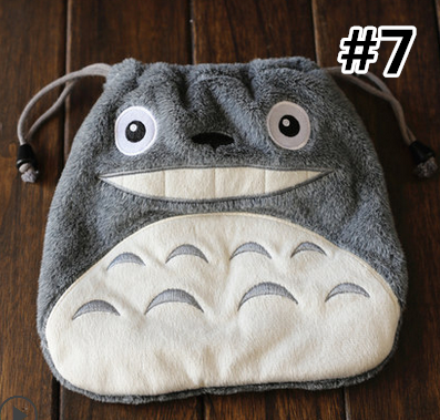 Adorable Cartoon Characters Plush Storage Bag SP165682