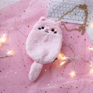 7 Colors Kawaii Cat Plush Purse Bag SP14138