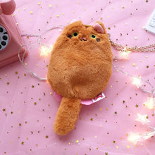 Load image into Gallery viewer, 7 Colors Kawaii Cat Plush Purse Bag SP14138