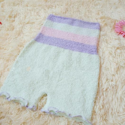 Pastel Fleece High Waist Warming Shorts SP164918 - SpreePicky  - 9