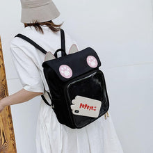 Load image into Gallery viewer, Cute Cat Paw Patch Clear Window Backpack SS0597