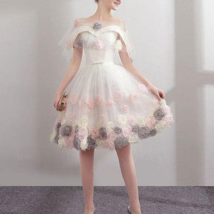 Cute Sweetheart Tulle Short Prom Dress, Tulle Homecoming Dress - DelaFur Wholesale