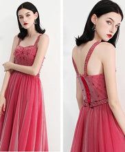 Load image into Gallery viewer, Sweetheart Neck Tulle Long Prom Dress, Tulle Evening Dress - DelaFur Wholesale