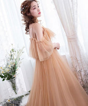 Load image into Gallery viewer, Stylish Tulle Long Prom Dress, Lace Evening Dress - DelaFur Wholesale
