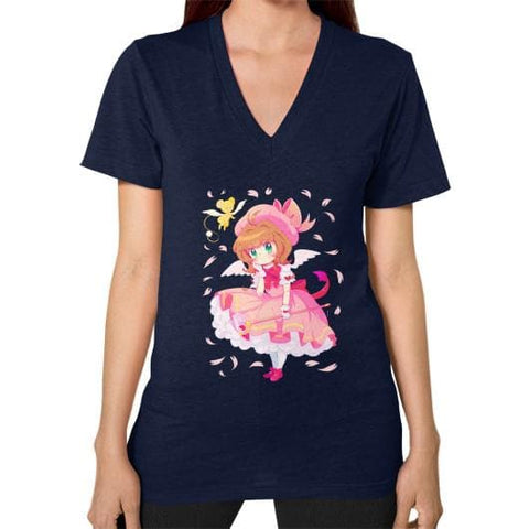 Wonderful Sakura V-Neck Woman Tee Shirt - SpreePicky  - 11