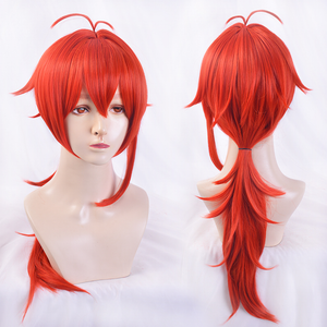 Genshin Impact Diluc Red Long Role Play Cosplay Wig SP15550