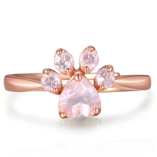 Load image into Gallery viewer, 925 Sterling Silver Rose Gold Cat Paw Ring S12767