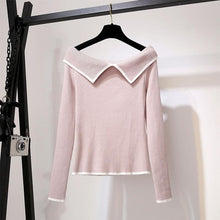 Load image into Gallery viewer, Sweet Off-Shoulder Sweater Grid Skirt Outfits SP14649 - SpreePicky FreeShipping