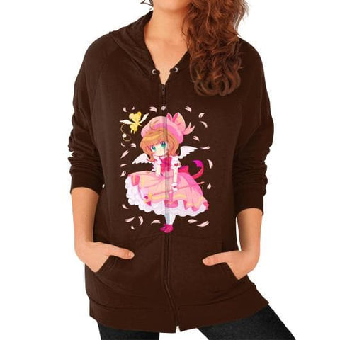 Wonderful Sakura Zip Hoodie (on woman) - SpreePicky  - 4
