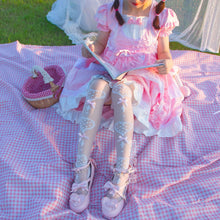Load image into Gallery viewer, Ultra Thin Silk Heart Patterned Lolita Over-the-knee Socks SS0765