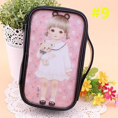 24 Patterns Cutie Girl Cartoon Cosmetic Storage Bag SP153063 - SpreePicky  - 12