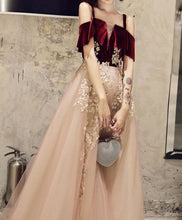 Load image into Gallery viewer, Simple Sweetheart Pink Tulle Lace Long Prom Dress Pink Evening Dress - DelaFur Wholesale