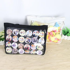 9 Colors Lovely Transparent Canvas Handbag/Shoulder Bag SP14303