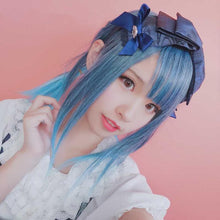 Load image into Gallery viewer, Black-Blue Gradient Bangs Wig SP1811598