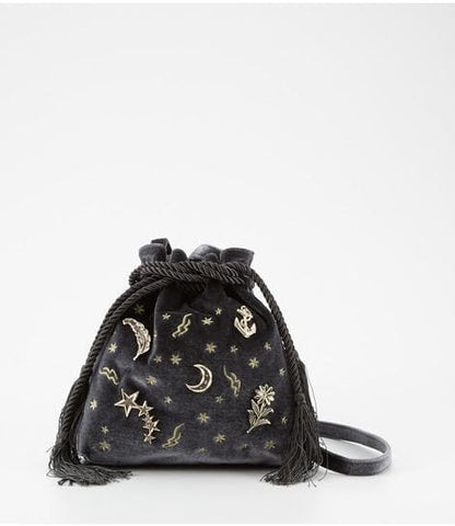 Black/Deep Grey/Hot Red Starry Magic Drawstring Pouch SP1711216