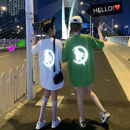 Black/Green/White Reflective Sailor Moon Tee Shirt SP14178