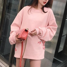 Load image into Gallery viewer, Pink/Grey/Black Peace Sakura Blossom Pullover Jumper SP13548