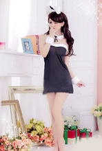 Load image into Gallery viewer, Black/Pink Kawaii Bunny Cosplay Costume SP1710855