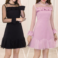 Black/Pink Sweet Falbala Party Dress SP13397