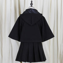 Load image into Gallery viewer, Black/Red Preppy Style Lolita Phocho Cape SP1711123