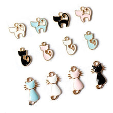 Load image into Gallery viewer, Black/White/Pink/Blue Kawaii Kitty Pendant SP1811737