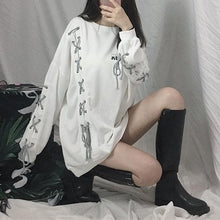 Load image into Gallery viewer, Black/White Harajuku Laced Pullover Shirt S12967
