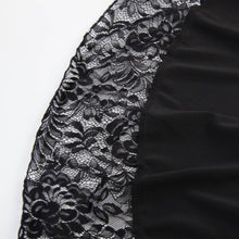 Load image into Gallery viewer, Black/Wine/Blue Sweet Streampunk Victorian Lace Pleated Skirt SP13845