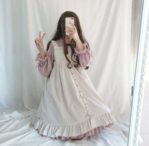 Black/Wine/Pink Sweet Lantern Sleeve Lolita Dress S12886