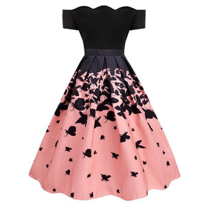 Black Butterfly Swing Dress SP13871
