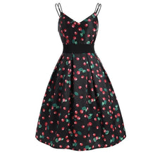 Load image into Gallery viewer, Black Cherry Spaghetti Strap Dress SP13873