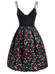 Black Cherry Spaghetti Strap Dress SP13873