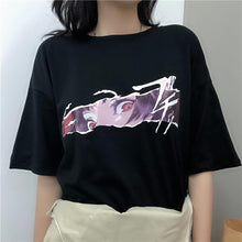 Load image into Gallery viewer, Black Cool Eye Printing Tee Shirt SP13681