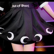 Load image into Gallery viewer, Black Dark of Devil Moon Skirt S13040