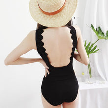 Load image into Gallery viewer, Black Falbala Laced Swimsuit SP13752