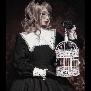 Black Gothic Lolita Crossed Dress SP1710838