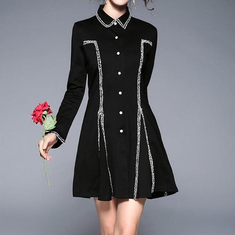 Black Gothic Midnight Dress SP179007
