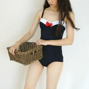 Black Kawaii Bow Swimsuit SP13747