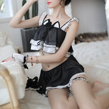 Load image into Gallery viewer, Black Kawaii Cat Maid Lingerie Set SP13814