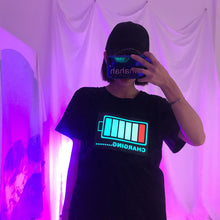 Load image into Gallery viewer, Black Light Up Battery Tee Shirt S12721