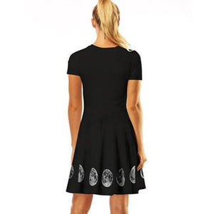 Black Moon Printing Dress SP13984