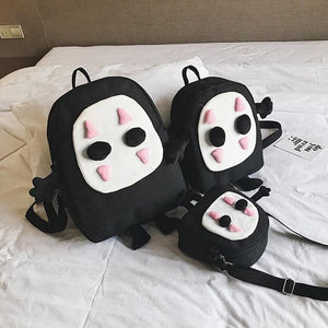 Black No Face Man Backpack SP14139