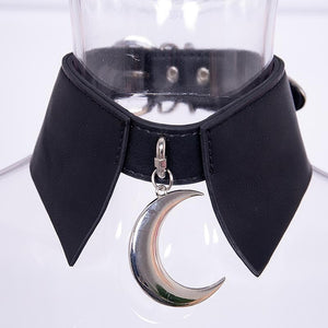 Black Pung Moon PU Choker SP14030