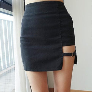 Black Punk Skirt SP179694