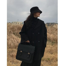 Load image into Gallery viewer, Black Retro Sailor Woolen Coat SP14274 - SpreePicky FreeShipping
