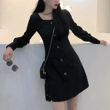 Load image into Gallery viewer, Black Skinny Long Sleeve Dress SP14183