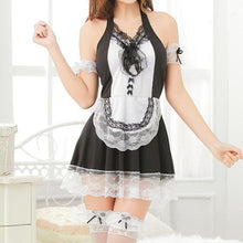 Load image into Gallery viewer, Black Sweet Lace Bow Maid Dress S12812