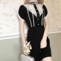 Black Sweet Vintage Lace Dress SP13396
