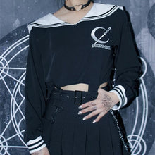 Load image into Gallery viewer, Black Tokyo Girl Sailor Shirt SP13914